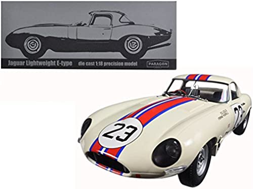 Paragon 98361 guar E Typ LightWeißt Sebring 1963 Echelle 1 18 WeißBlau Rot