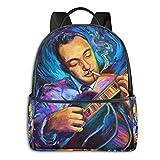 Django Reinhardt Gypsy Jazz Guitarist - Sudadera con capucha para estudiante, bolsa de escuela, ciclismo, tiempo libre, viajes, camping, al aire libre