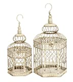 Deco 79 Metal Bird Cage, 21-Inch and 18-Inch, Set of 2