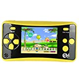 HigoKids Portable Handheld Games for Kids 2.5' LCD Screen Game Console TV Output Arcade Gaming Player System Built in 182 Classic Retro Video Games Birthday for Your Boys Girls (Yellow)
