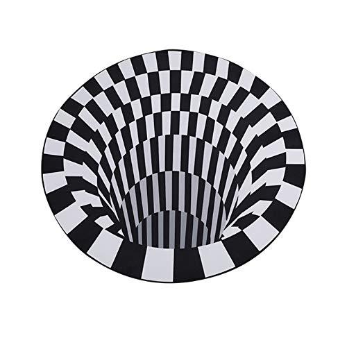 Souarts Tapis 3D Vortex Tapis de Illusion d