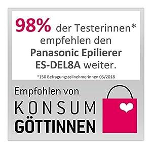 Panasonic Epilierer ES-DEL8A, 6-in-1 Epiliergerät Damen, Wet & Dry, Aufsatz für Achseln und Bikinizone, Fußpflege, Epilieren & Rasieren, rosa