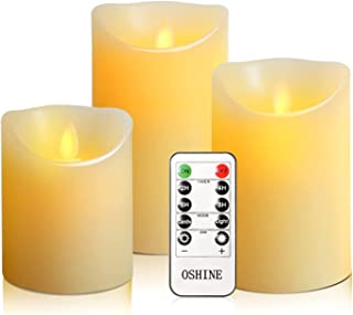 OSHINE flameless Candles, flameless Candlestick, flameless Battery Candles, Battery Remote Control Candles, LED Candles 3 ...