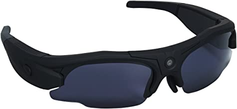 Hunters Specialties i-KAM XTREME 720P HD Video Eyewear, Flat Black  HD Hidden Camera Hunting Glasses Video Recorder Mini DV Camcorder Support Photo Taking