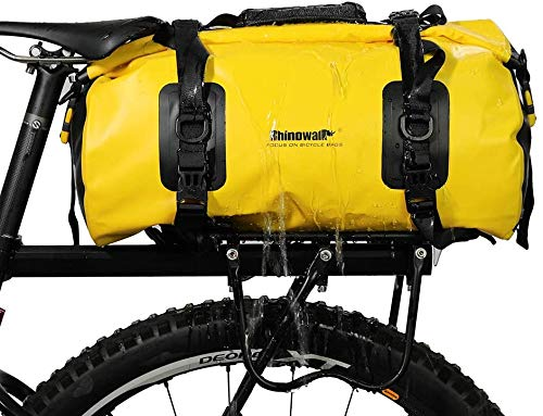 BAIGIO Fahrrad Gepäckträgertasche 20L wasserdichte Fahrradtasche Fahrradsitz Tasche Schultergurt Tasche Handtasche Packtasche für Mountainbike Fahrräder Rennräder Gelb