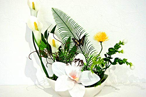 Tischdeko Tischdekoration Hochzeit Büro Geburtstag Deko Tischgesteck Calla K 03 (K 03)