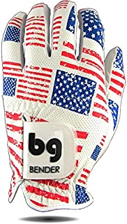 Bender Gloves Mesh Golf Gloves for Men, Cabretta Leather, Worn on Left Hand