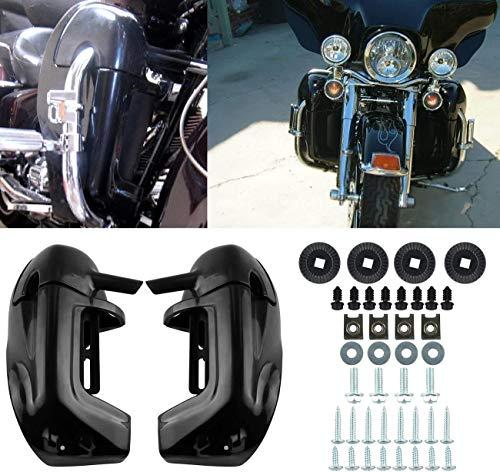 Ambience Negro/negro pintado inferior expresado pierna carenados guantera para Harley Touring Road...