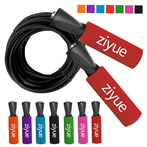 ziyue Springseil Premium Speed Rope für Boxen und Fitness, rot (a), Latest Classic