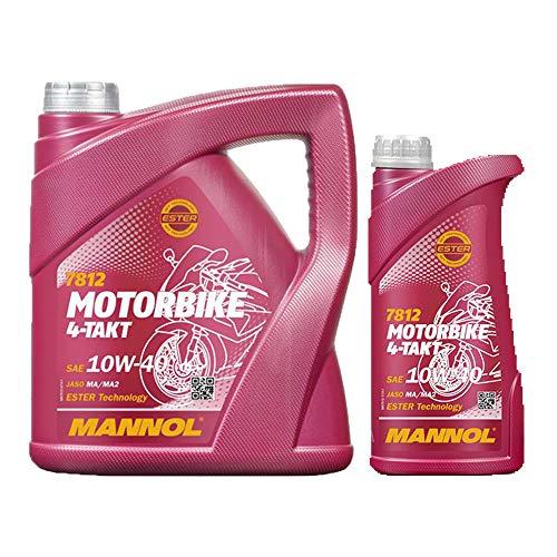 MANNOL 4+1 (5 Liter) 7812 4-TAKT 10W-40 MOTORRADÖL