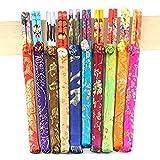 Ogquaton 20 (10 pares) palillos de tela pequeño regalo de seda Hello Palillos Enviar extranjeros Suministros de boda ir al extranjero Regalos prácticos y populares