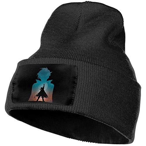 MAGEE Gurren-Lagann Warm Knit Cuff Beanie Cap Daily Beanie Hat for Unisex Black