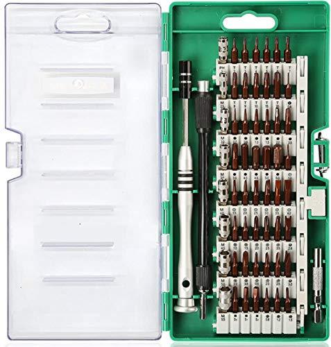 Hi-Spec - Juego de 60 puntas de precisión y mango de destornillador para reparación de teléfonos celulares Android, iPhone, Macbooks, portátiles, consolas de juegos y electrónica en una bandeja