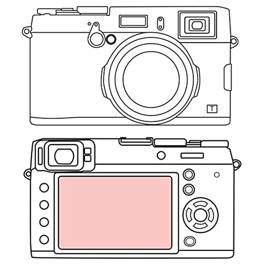 Martin Fields Overlay Plus Screen Protector with Advanced Glass Hard Coating for FujiFilm X100F / X100T