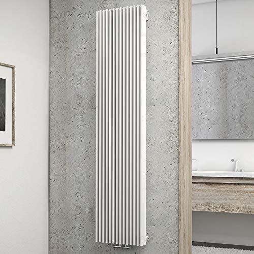 Schulte Wohnraum-Heizkörper London, 180x42 cm, 1556 Watt, Mittenanschluss oder Anschluss seitlich, alpin-weiß