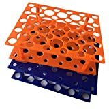 50 portaprovette a centrifuga, arancione/blu, da 10 ml/15 ml/50 ml, (confezione da 2)