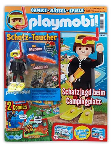Playmobil Sammelmagazin Nr. 6/2019 inkl. Comics Poster und limitierter Figur Schatztaucher und Goldkelch