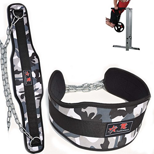 Trademinent Weight Belts for Lifting Men, Workout Dip Belt for Weightlifting, Pullups, Powerlifting, and Bodybuilding Workouts