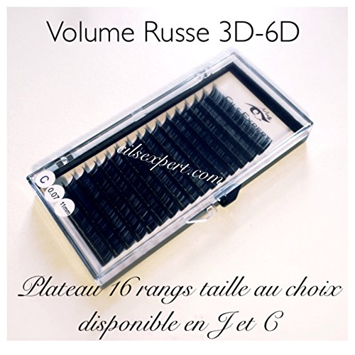 Volume russe 0,07 11 mm C plateau de 16 rangs