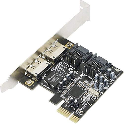 SinLoon PCI-E ESATA SATA III アダプタコンバータ拡張カード 増設ボード PCI Express 4ポート コントローラカード、SATA3.0ライザカード 6Gb/s Windows、Linux、およびMac OS X 10.6以降のサポート (Windows 7およびWindows 8はサポートされていません)