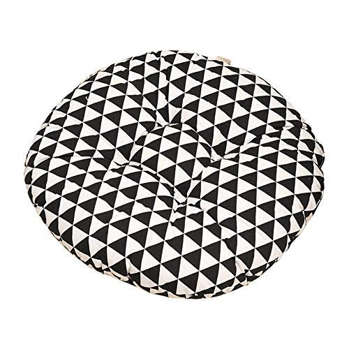 Cosanter Coussin Triangle à Carreaux Noir et Blanc Coussin de Chaise Décoration de Meubles de Jardin pour chaises de Cuisine Jardin Salle à Manger Galette de Chaise