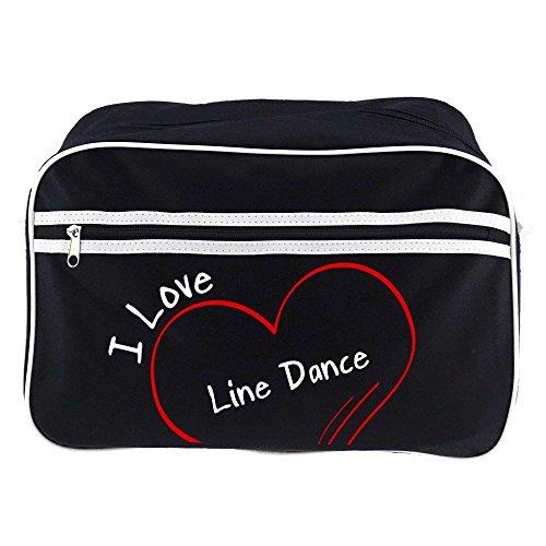 Retrotasche Modern I Love Line Dance schwarz