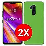 TBOC 2X Coque Gel TPU Vert pour LG G7 ThinQ (6.1 Pouces) [Pack: Deux Unités] en Silicone Souple...