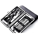 YXGS Set De Pedicura Y Manicura Shaper Portátil,Pinzas para Uñas De Manicura Y Pedicura para Hombres Y Mujeres Pedicure/Manicure Set Nail Cut Clippers Cuticle Cleaner Travel Grooming Case Manicura