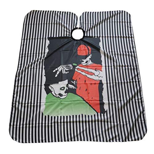 Monllack Paño de Corte de Pelo, Paño de Corte de Pelo de Cabeza de Esqueleto Europeo y Americano Paño de Tijera Popular Secador de Pelo Paño Grande Paño de Corte de Pelo Antiadherente Bufanda