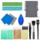 Kit de nettoyage pour iPhone 142 pièces, Airpod kit de nettoyage, kit de nettoyage avec lingettes et tampons pour écran de téléphone, ordinateur portable, kit de nettoyage pour iPhone avec chiffon