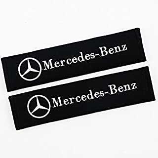QZS Seat Belt Shoulder Pads Strap Covers Cushion 1 Pair for Mercedes Benz Cars