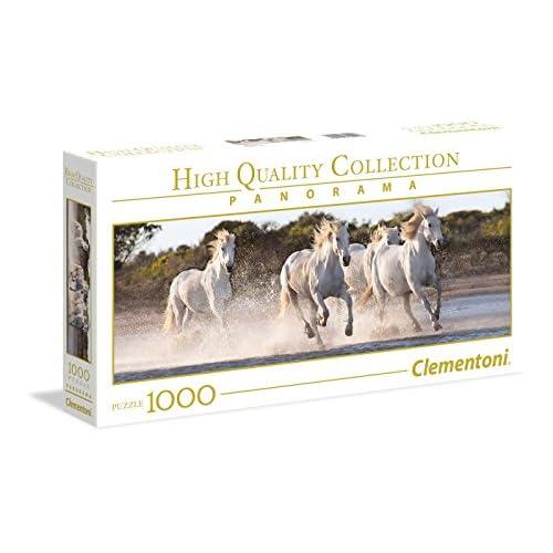 Clementoni Collection Panorama Puzzle Running Horses, 1000 Pezzi, Colore Neutro, 39441