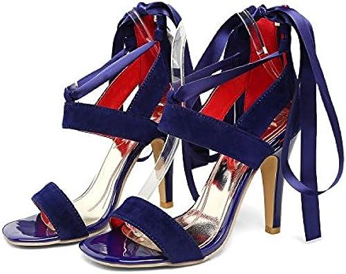 Aa-nvliangxie Nouvelles d'été et sandales talons super,bleu,ue42CN43