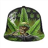 FONDSILVER - Gorra de béisbol ajustable con diseño de hojas de marihuana, color...