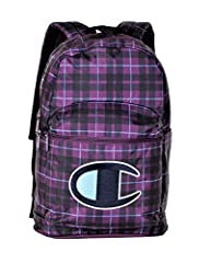 Champion Unisex Supercize 2.0 Backpack, Adult, Black/Purple, OS