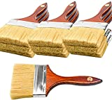 10PCS Decking and Stain Paint Brush Walls Brush Angle sash Bristal Chip Brushes 4Inch for Walls Paint,Gesso,Glues,Varnishes,Stains,Artwork Multi-Purpose Projects