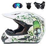 Jugendliche Erwachsener Motocross Helm Integral Off Road Motorradhelme Atmungsaktiv Crash Proof Safety Caps