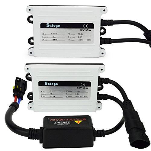 Safego 2x Xenon HID Ballast 55W AC 12V Lampe Ampoule Pour H1 H3 H9 H10 H8 H7C 9004 H11 H7 H4