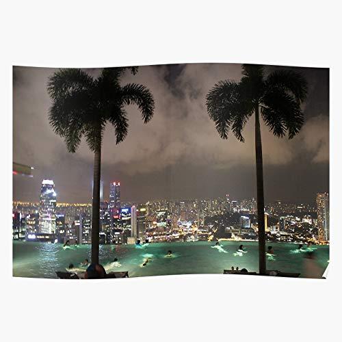 dressbarn Freedom Bay Singapore Palm Pool Sands Architecture Marina Holiday Skyline Tree Das eindrucksvollste und stilvollste Poster für Innendekoration, das derzeit erhältlich ist