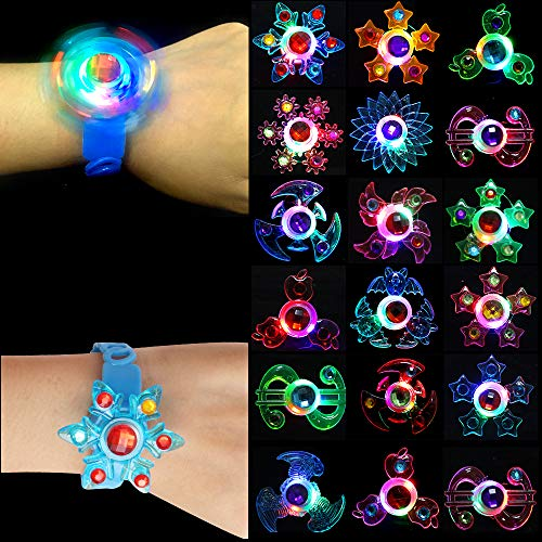 ONESING 18 Pack Halloween Light Up Party Favors for Kids, LED Bracelets Glow in The Dark Birthday Party Favors Fun Gifts for Boys Kids Girls Prizes Classroom Tag LED Flashing Neon Party Supplies