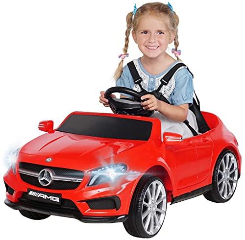 Actionbikes Motors - Auto elettrica per bambini Mercedes Benz Amg GLA45 - Licenza - telecomando Rc 2.4 Ghz – Soft start - scheda SD - USB - MP3 – per bambini da 3 - 5 anni (Rossa)