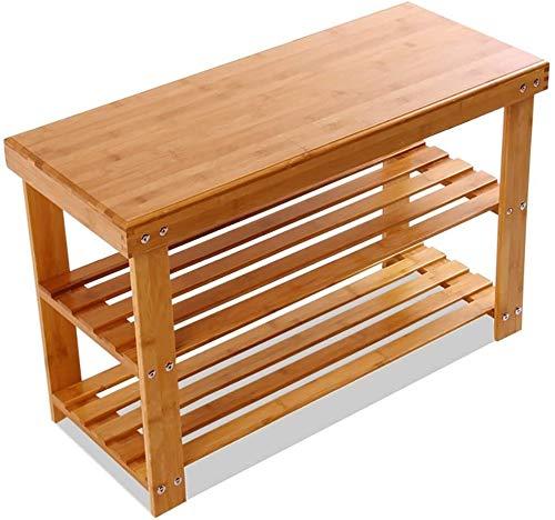 Wddwarmhome Zapatero de bambú para productos de bricolaje, estantes de almacenamiento multifuncionales, zapatero creativo y simple (tamaño: 90 cm)