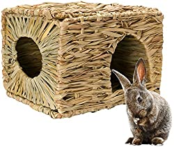Mkono Natural Seagrass Mat Hideaway Hut Toy
