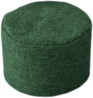 Adultos niños cómodo Bolso de Frijoles Perezoso sofá Funda for Silla sin Relleno Piso Asiento sofá puf otomano Dormitorio Tatami Puff (Color : Green-Stool Cover)
