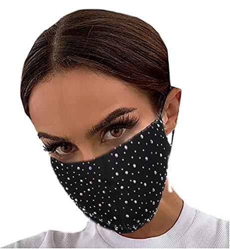 Ushiny Glitzernder Maschendraht Maskenball Party Gesicht Decke Halloween Genie Kostüm Zubehör Mardi Gras Schmuck für Frauen und Mädchen