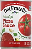 Dei Fratelli Pizza Sauce - All Natural - No Water Added - Never from Tomato Paste - 5th Generation Recipe (15 oz. cans; 12 pack)