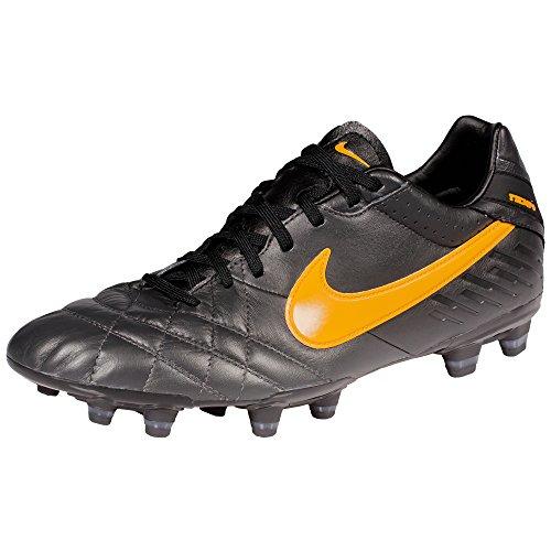 Nike TIEMPO MYSTIC IV FG DARK CHARCOAL/LASER ORANGE-BLK, Größe Nike:8