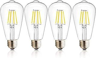 Luxvista - 4 bombillas LED E27 12 V 4 W ST64 WW 2700 K