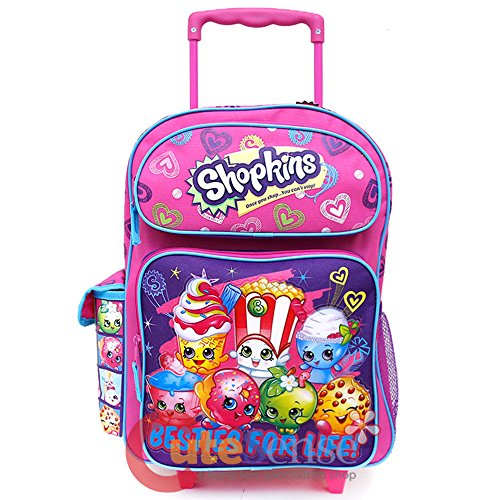 Shopkins Besties for Life Pink and Purple 16' Rolling Backpack