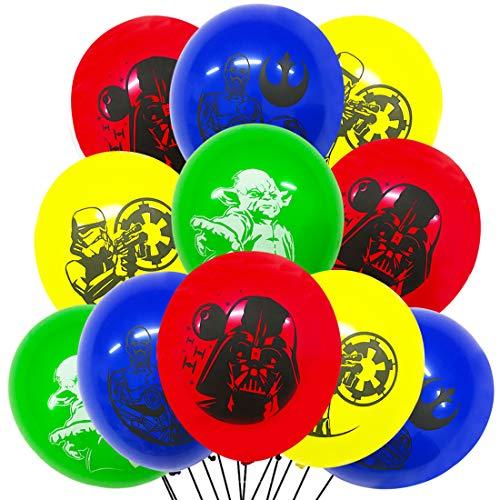 Star Wars Geburtstagsballons - YUESEN 18pcs BabyYoda Luftballons Geburtstagsdeko Themenparty, Geburtstagsfeier Dekoration Zubehör für BabyYoda für Kind Dekoration Geburtstags Latexballon